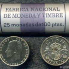 Monedas Juan Carlos I: CARTUCHO ORIGINAL FNMT COMPLETO DE 100 PESETAS DE 1985 FLOR DE CUÑO. Lote 57043036