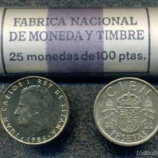 Monedas Juan Carlos I: CARTUCHO ORIGINAL FNMT COMPLETO DE 100 PESETAS DE 1986 FLOR DE CUÑO. Lote 57043059