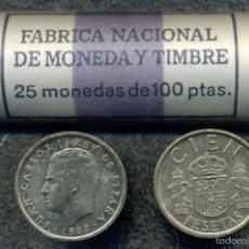Monedas Juan Carlos I: CARTUCHO ORIGINAL FNMT COMPLETO DE 100 PESETAS DE 1988 FLOR DE CUÑO. Lote 57043082