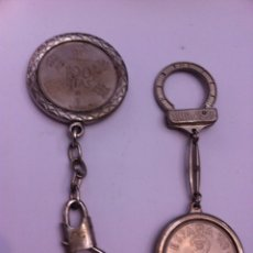 Monedas Juan Carlos I: 2 LLAVEROS.1 MONEDA DE 100 PESETAS,2 MONEDAS UNA DE 50 Y 5 PTS. Lote 57071115