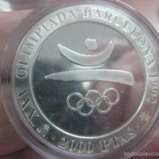 Monedas Juan Carlos I: 2000 PTAS.PLATA. SERIE II- XXV OLIMPIADA BARCELONA´92.- EMBLEMA. Lote 72134923