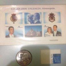 Monedas Juan Carlos I: MONEDA Y HOJA BLOQUE SELLOS CONMEMORATIVA BODA REAL PRINCIPE FELIPE. Lote 57549715