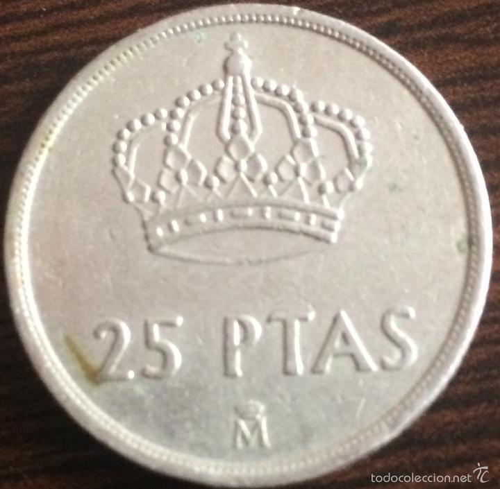 Monedas Juan Carlos I: 25 pesetas. Juan Carlos I. 1982. - Foto 4 - 18195896