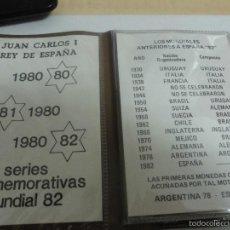 Monedas Juan Carlos I: CARTERA DE TODAS LAS MONEDAS DE LOS MUNDIALES 82,SIN FIRCULAR,CONTIENE LAS ESTRELLAS 80-81-82. Lote 57859231