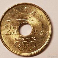 Monedas Juan Carlos I: MONEDA 25 PESETAS 1990 DISCO SIN CIRCULAR. Lote 57870324