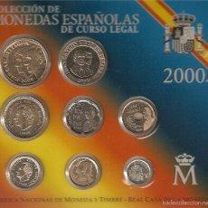 Monedas Juan Carlos I: ESPAÑA 2000 COLECCIÓN DE MONEDAS DE CURSO LEGAL. Lote 57922652