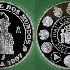 Monedas Juan Carlos I: ESPAÑA 2000 PESETAS PLATA 1997 PROOF BAILARINA ENCUENTRO DOS MUNDOS - RARA. Lote 58217725