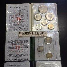 Monedas Juan Carlos I: ESPAÑA 3 CARTERAS FNMT PESETAS 1976 + 1977 + 1979 PROOF PRUEBAS NUMISMATICAS 0,50+1+5+25+50+100 PTAS. Lote 195178241