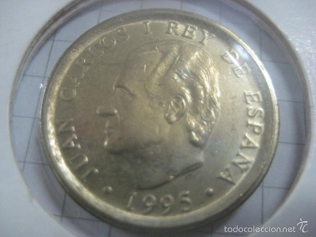 Monedas Juan Carlos I: VARIANTE O ERROR DE ACUÑACIÓN EN 100 PESETAS DE 1995 (CANTO ANCHO) - Foto 2 - 59514523