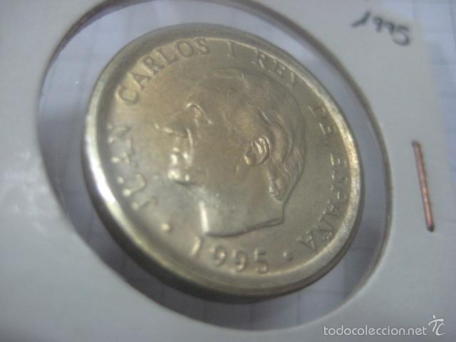 Monedas Juan Carlos I: VARIANTE O ERROR DE ACUÑACIÓN EN 100 PESETAS DE 1995 (CANTO ANCHO) - Foto 4 - 59514523