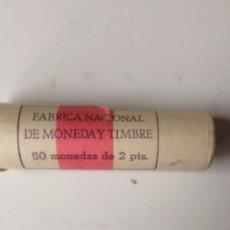 Monedas Juan Carlos I: PAQUETE FABRICA NACIONAL DE MONEDA Y TIMBRE 50 MONEDAS DE 2 PESETAS JUAN CARLOS I. Lote 60702891