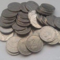 Monedas Juan Carlos I: 34 MONEDAS DE 2 PESETAS. REY JUAN CARLOS I. Lote 61208507