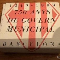 Monedas Juan Carlos I: 2000 PESETAS DE PLATA 750 ANYS DE GOVERN MUNICIPAL , BARCELONA 1999. Lote 154795172