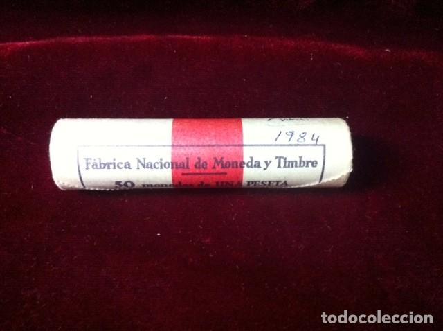 CARTUCHO 50 MONEDAS DE 1 PESETA 1984 (Numismática - España Modernas y Contemporáneas - Juan Carlos I)