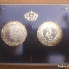 Monedas Juan Carlos I: 25 ANIVERSARIO BODAS JUAN CARLOS Y SOFIA 1987 ESTUCHE. Lote 63506896