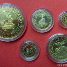 Monedas Juan Carlos I: CUARTA SERIE DE ORO COMPLETA DEL QUINTO CENTENARIO - 1992 DE 5000 A 80000 PESETAS. Lote 63741191