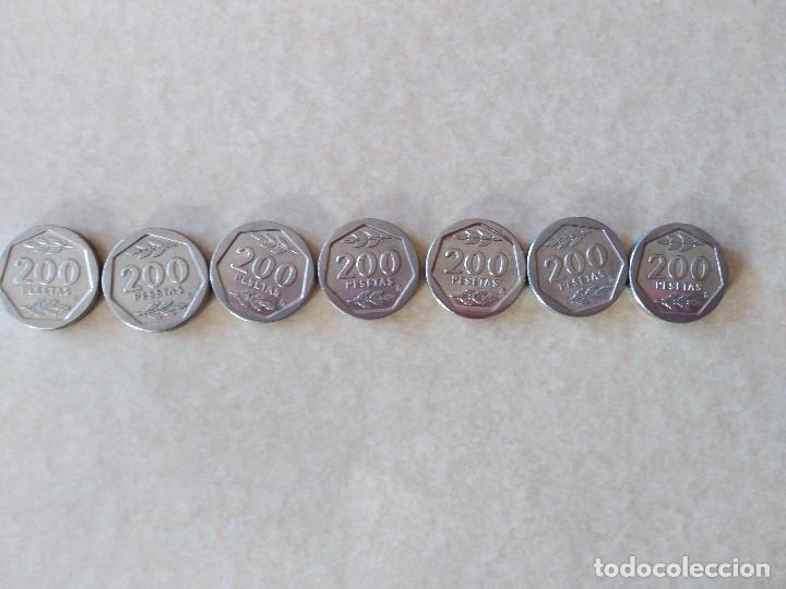 LOTE 7 MONEDAS DE 200 PESETAS. AÑO 1987 (Numismática - España Modernas y Contemporáneas - Juan Carlos I)
