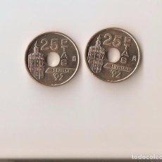 Monedas Juan Carlos I: 2 BONITAS MONEDA DE 25 PESETAS DE 1992 S/C LA DE LA FOTO VER TODOS MIS LOTES DE MONEDAS Y BILLETES. Lote 123455356