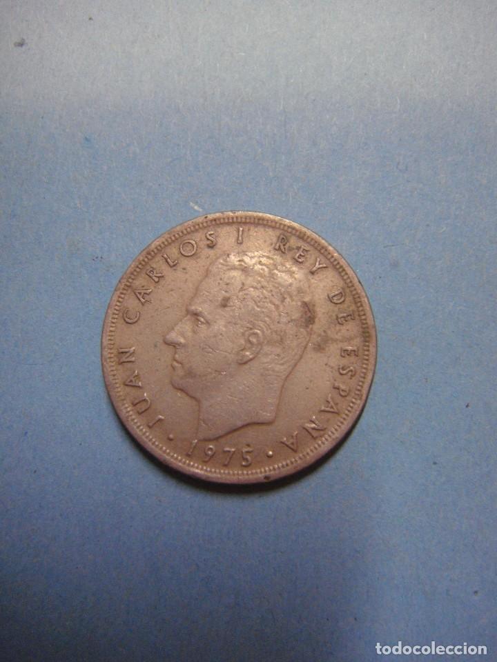 Monedas Juan Carlos I: MONEDA DE CINCO PESETAS. JUAN CARLOS I REY DE ESPAÑA. 5 PESETAS 1975 - Foto 2 - 68865389
