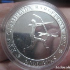 Monedas Juan Carlos I: 2000 PTAS.PLATA. SERIE II- XXV OLIMPIADA BARCELONA´92.- ARQUERO. Lote 72136295