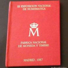 Monedas Juan Carlos I: CARTERA III EXPOSICION NACIONAL DE NUMISMATICA 1987. Lote 72162419