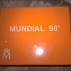 Monnaies Juan Carlos I: 1000 PESETAS DE PLATA MUNDIAL DE 1998. ESTUCHE + CERTIFICADO. Lote 221608086