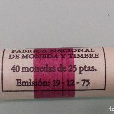 Monedas Juan Carlos I: CARTUCHO FNMT DE 40 MONEDAS DE 25 PESETAS 1975*77 JUAN CARLOS I.SIN CIRCULAR. Lote 236661400