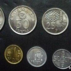 Monedas Juan Carlos I: LOTE DE OCHO MONEDAS ESPAÑOLAS . Lote 74904659