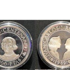 Monedas Juan Carlos I: 2000 PESETAS 1989 QUINTO CENTENARIO PLATA ESPAÑA. Lote 75513559