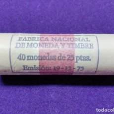 Monedas Juan Carlos I: CARTUCHO DE FNMT DE 40 MONEDAS SIN CIRCULAR. 25 PESETAS. JUAN CARLOS I. AÑO 1975 *78. . Lote 105741750
