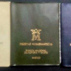 Monedas Juan Carlos I: LOTE PRUEBAS NUMISMÁTICAS DE F.N.M.T. DE JUAN CARLOS I - JUEGOS OFICIALES- 3 CARTERAS DIFERENTES. Lote 114314416
