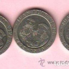 Monedas Juan Carlos I: 200 PESETAS JUAN CARLOS I - LOTE DE 3 MONEDAS 1993 LUIS VIVES. Lote 79017457