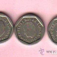 Monedas Juan Carlos I: 200 PESETAS JUAN CARLOS I - LOTE DE 3 MONEDAS (1 DE 1986 Y 2 DE 1987). Lote 79017877