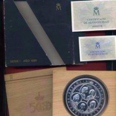 Monedas Juan Carlos I: 10.000 PESETAS 1989 V CENTENARIO AUTONOMIAS CON ESTUCHE Y CERTIFICADO. Lote 120761370