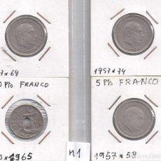 Monedas Juan Carlos I: INTERESANTE LOTE DE MONEDAS DE FRANCO (M1). Lote 82972792