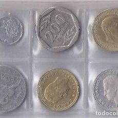 Monedas Juan Carlos I: BONITO LOTE DE 6 MONEDAS DE FRANCO Y EL REY JUAN CARLOS (M8). Lote 82973748