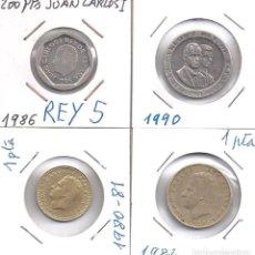 Monedas Juan Carlos I: LOTE DE 4 MONEDAS DISTINTAS DEL REY JUAN CARLOS (REY 5). Lote 83423392