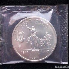 Monedas Juan Carlos I: LOTE 5 MONEDAS DE PLATA (2000 PESETAS). Lote 84716800