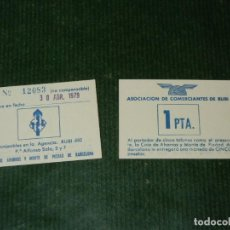 Monedas Juan Carlos I: VALE DE 1 PESETA - EMITIDO EN 1978 POR LA ASOCIACION DE COMERCIANTES DE RUBÍ - UN VALE. Lote 84800632