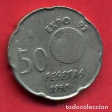 Monedas Juan Carlos I: MONEDA 50 PESETAS JUAN CARLOS , 1990 EBC , ERROR VARIANTE PANTOGRAFO , ORIGINAL , A10. Lote 85052412