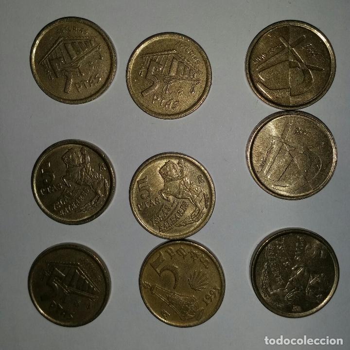 Monedas Juan Carlos I: LOTAZO 200 MONEDAS DE 5 PESETAS AÑOS 90 Y DE DISTINTAS PROVINCIAS - Foto 4 - 86661496