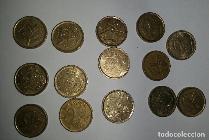 Monedas Juan Carlos I: LOTAZO 200 MONEDAS DE 5 PESETAS AÑOS 90 Y DE DISTINTAS PROVINCIAS - Foto 5 - 86661496