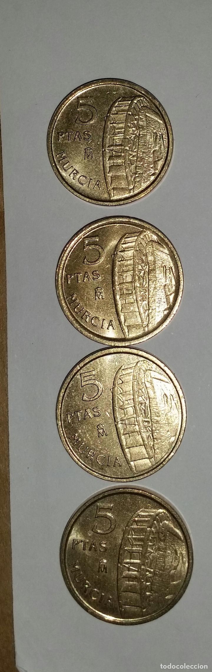 Monedas Juan Carlos I: LOTAZO 200 MONEDAS DE 5 PESETAS AÑOS 90 Y DE DISTINTAS PROVINCIAS - Foto 7 - 86661496