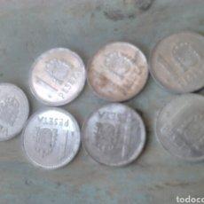 Monedas Juan Carlos I: LOTE 7 MONEDAS, DE 1 PTA,JUAN CARLOS L,AÑOS 1983-84-86-87. Lote 86930412