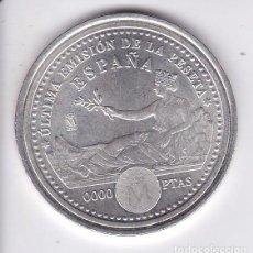 Monedas Juan Carlos I: CURIOSA MONEDA JUAN CARLOS I Y SOFIA 2001 ULTIMA EMISION DE LA PESETA VALOR DE 0000 PESETAS FNMT. Lote 88148148