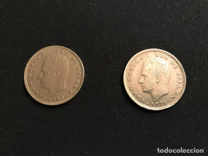 Monedas Juan Carlos I: Dos monedas de 25 pesetas REY JUAN CARLOS I - Foto 2 - 88736968