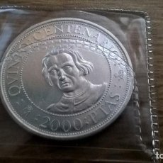 Monedas Juan Carlos I: 2000 PESETAS DE PLATA DE 1989. QUINTO CENTENARIO. Lote 170113592