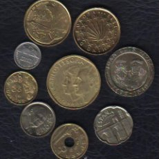 Monedas Juan Carlos I: ESPAÑA - JUAN CARLOS I - LAS 9 MONEDAS DE 1993 . Lote 92781235
