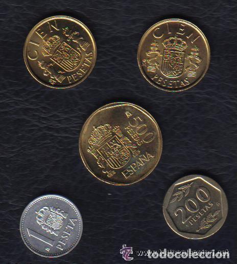 Monedas Juan Carlos I: ESPAÑA - JUAN CARLOS I - LAS 5 MONEDAS DE 1988 SC - Foto 2 - 92782005