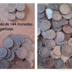 Monedas Juan Carlos I: LOTE DE 144 MONEDAS ESPAÑOLAS - DE 5, 25 Y 200 PESETAS - 2490 PESETAS EN TOTAL. Lote 92908215